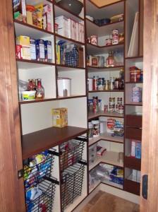 Organized Pantry Shelving